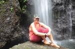 Zuri at waterfalls